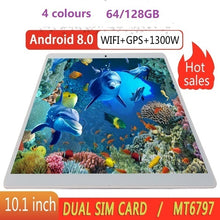 Load image into Gallery viewer, 2019 WiFi Tablet PC 10.1 Inch Ten Core 4G Network Android 8.1 Arge 2560*1600 IPS Screen Dual SIM Dual Camera Rear 13.0 MP IPS
