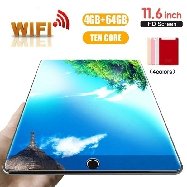 11.6 Inch Ten Core 4G Network  WiFi Tablet PC Android 7.1 Arge 2560*1600 IPS Screen Dual SIM Dual Camera Rear 13.0 MP IPS New