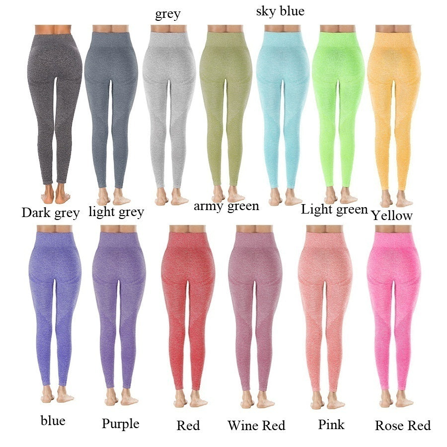 Yoga Pants Yoga Leggings 4 Color S-L High Waist Yoga Leggings Seamless Leggings Tights Women Workout Leggings Mesh Breathable Fitness Clothing Training Pants Female