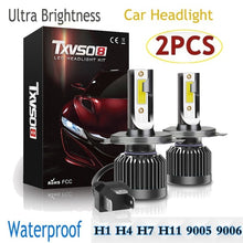 Load image into Gallery viewer, 2PCS Super Bright IP68 Waterproof Led Headlights Conversion Kits Hi/Lo Beam Car Headlight Bulbs H7 H4 H8/H9/H11 H1 9005 HB3 9006 HB4 9012 Driving Bulbs