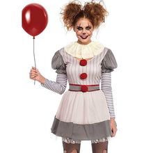 Load image into Gallery viewer, Women's Fashion Long Sleeve Creepy Clown Costume Casual Funny Halloween Dress