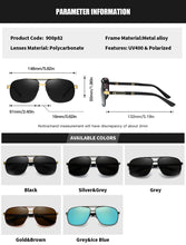 Load image into Gallery viewer, RoyalHot Men Women Polarized 2 Beams Sunglasses Aloly Frame Sun Glasses Driving Glasses Shades Oculos masculino Male 90082