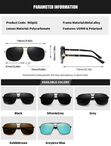 RoyalHot Men Women Polarized 2 Beams Sunglasses Aloly Frame Sun Glasses Driving Glasses Shades Oculos masculino Male 90082