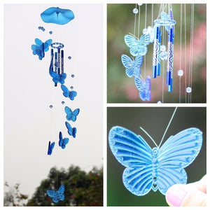 Butterfly Wind Chime Bell Hanging Dream Catcher Ornament Yard Garden Living Room Decorating -HYX