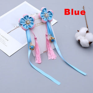 1 pairs Multi Style Girls Flower  Hair Clips Chinese Traditional Headdress Handmade Women Jewelry Gift Chinese Style Tassel Hair Accessories