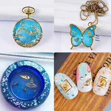 Load image into Gallery viewer, 1set Golden Shell Moon Star DIY Filling Materials Filler Epoxy Resin Jewelry Making ORP