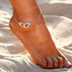 Crystal Sequins Anklet Set for Women Beach Foot Jewelry Vintage Statement Elephant Moon Chain Charm Anklets Bracelet Boho Retro Style Party Summer Alloy Jewelry