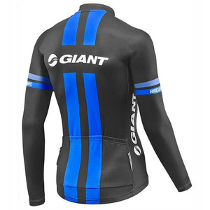 GIANT Men's Cycling Jersey Long Sleeve Mtb Bike Bicycle Outdoor Sports Jerseys Shirt Cycle Wear Ciclismo Cycling Clothing