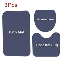 Load image into Gallery viewer, African American Men And Women Bathroom Anti-slip Mat Toilet mat Shower Curtain Set Shower Curtain