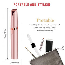 Load image into Gallery viewer, Portable Lipstick Shape Electric Mini Eyebrow Trimmer Epilators Face Eyebrows Removal Razor Shaving Nose Hair Remover Epilator Shaver Knife Machine Women with Light (Battery Not Included)