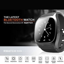 Load image into Gallery viewer, Waterproof Smartwatch M26 Bluetooth Smart Watch With LED Alitmeter Music Player Pedometer For Smart Phone