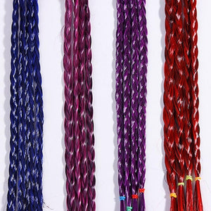 Girls Colorful Wigs Ponytail Hair Ornament Headbands Rubber Bands Beauty Hair Bands Headwear Kids Hair Accessories Head Band