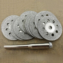 Load image into Gallery viewer, High quality 12 Pcs Rotary Tool Circular Saw Blades Cutting Wheel Discs Mandrel Dremel Cutoff