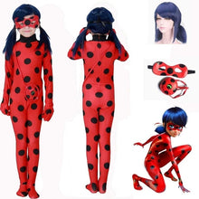 Load image into Gallery viewer, Ladybug Girl Cosplay Anime Costume Ladybug Tights Children Adult Ladybug Girl Wig