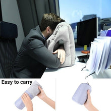 Load image into Gallery viewer, Frontal Travel Pillow Inflatable Air Bolster Comfortable Airplane Office Desk Nap Pillow