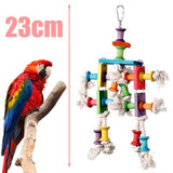 Colorful Bird Parrot Bite Toy Budgie Cockatiel Swing Bite String Cage Toys