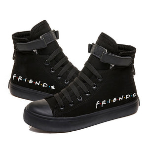 Friends TV Show Printed Canvas Shoes Cozy Sneakers