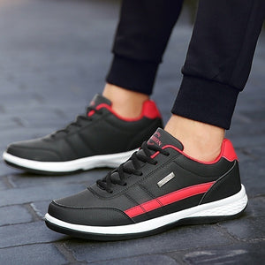 Men's Fashion Leather Casual Sneakers Sports Running Shoes Sapatos Femininos Zapatos De Hombre Size