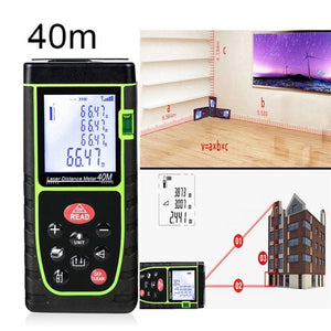 New 40m Handheld Digital Laser Distance Meter Range Finder Portable Measure Diastimeter Tool