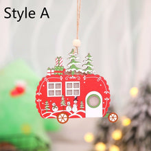 Load image into Gallery viewer, Creative Led Light Christmas Tree Hanging Pendant Star Car Heart Wooden Ornament Christmas Xmas Party New Year Decoration