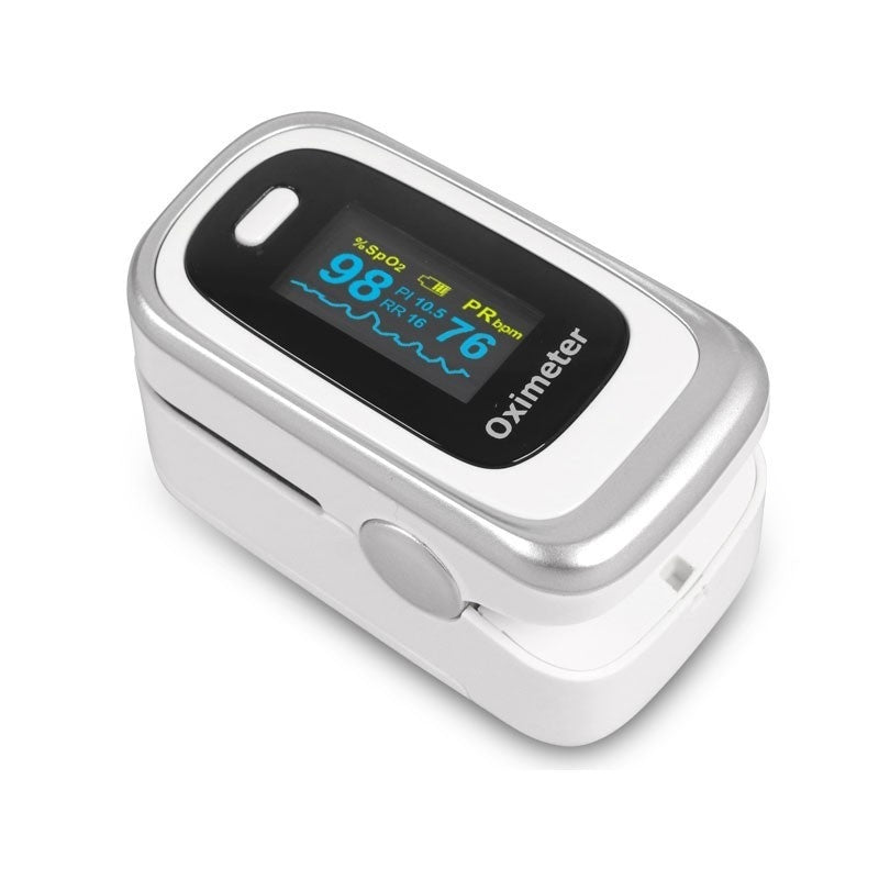 Finger Pulse Oximeter 4 Parameter (SPO2 PR PI RR) Blood Oxygen Monitor With Respiratory Rate OLED Oximetro De Pulso with Case