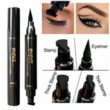 1 Pcs Charming Cat Eye Winged Eyeliner Sexy Eye Cosmetic Seal Stamp Wing Double Head Waterproof Eyeliner Pen Tool