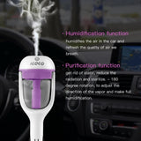 1PC 12V Car Steam Humidifier Auto Mini Air Purifier Freshener Aroma Diffuser Essential Diffuser Aromatherapy Mist Maker Fogger
