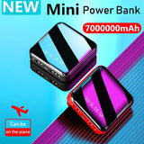 Portable Mini Power Bank Mirror Screen Digital Disply Poverbank External Battery Pack Powerbank for Smart Mobile Phone