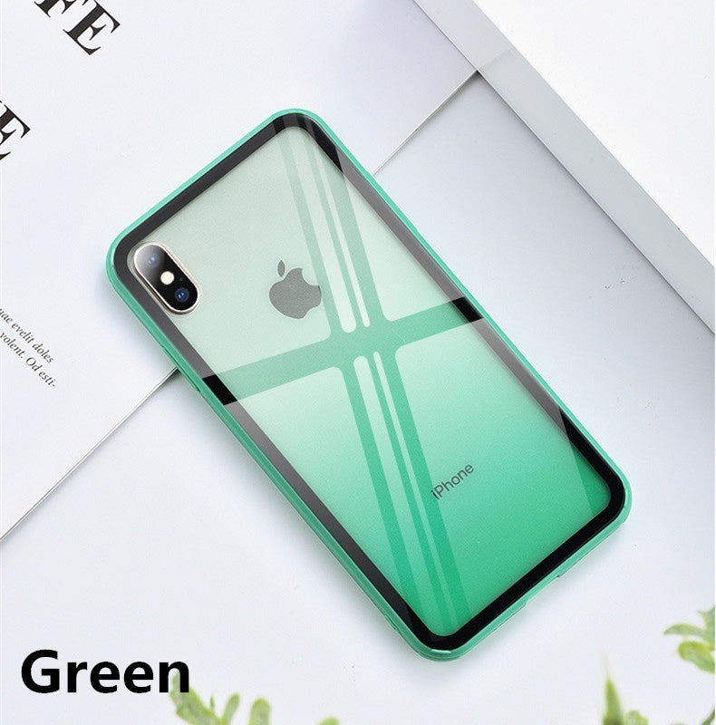 Simple Transparent Gradient Rainbow Phone Case for Iphone 11 Pro Max XR XS Max X XS 8 7 6 6S Plus Case Acrylic Glass Cover for For Iphone 11 Pro Max Back Coque Cover