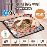 110V/220V Winter Electric Pet Dog Bed Heating Mat Blanket Paw Print or Flower Print Pad For Small Dogs Cats Pad Chihuahua Cama Perro 45cmx45cm/ 40cmx40cm