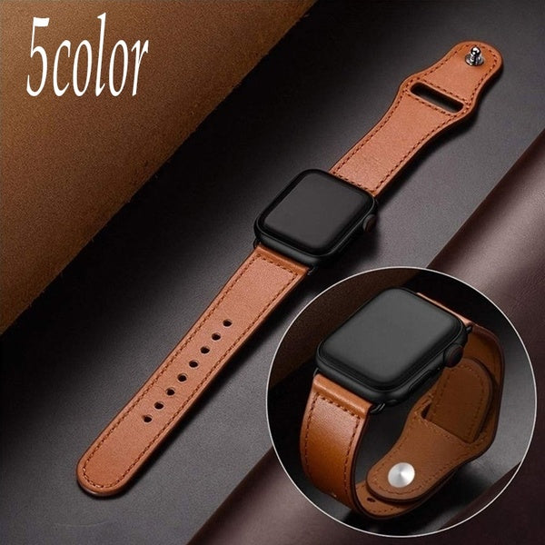 New For Apple Watch band 4 3 2 1 44mm 40mm 42mm 38mm Genuine Leather Loop Strap