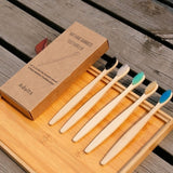 3/5/10Pcs Wooden Toothbrush Eco-Friendly Rainbow Bamboo Soft Fibre Toothbrush Biodegradable Teeth Brush Solid Bamboo Handle Toothbrush
