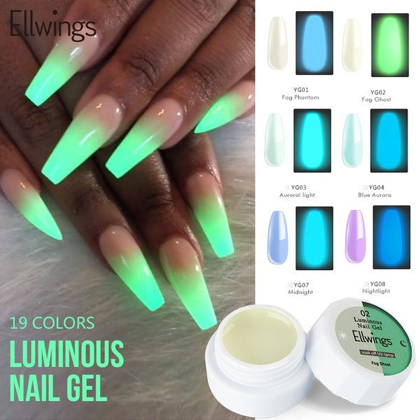 Top Selling 1PC Glow In Dark Fluorescent Nail Gel DIY Manicure Perfect Nail Gel Polish Lighting In Night Nails Design Lacquer