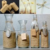 Jute Twine 100M/50m Natural Sisal 2mm Rustic Tags Wrap Wedding Decoration Crafts Twisted Rope String Cord Events Party Supplies (Size: One Size)