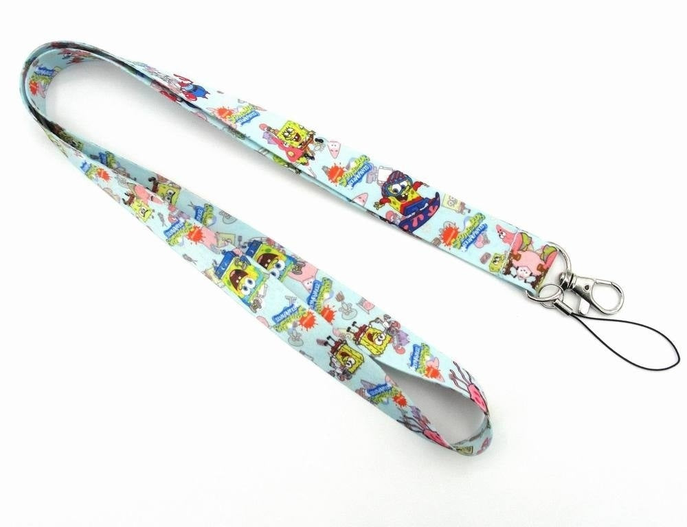 1PC Cartoon Straps Lanyard ID Badge Holders Mobile Neck Key Chains (46cm)