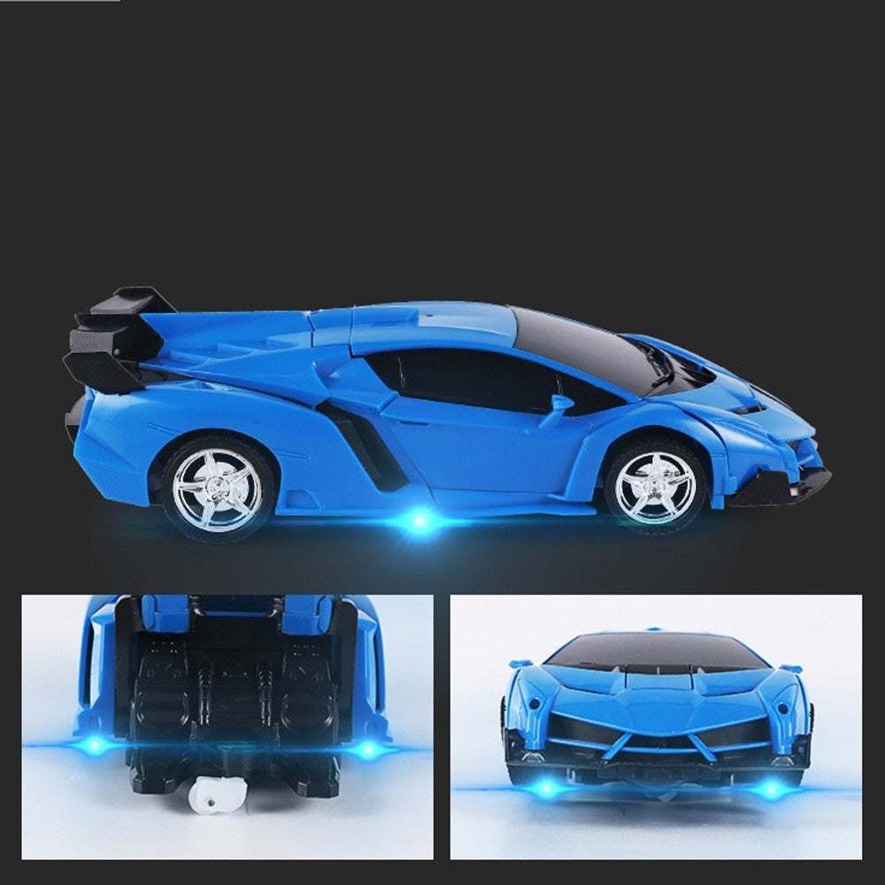 1 18 Electric Remote Control Car1 Button Remote Control Deformable Vehicle Robot