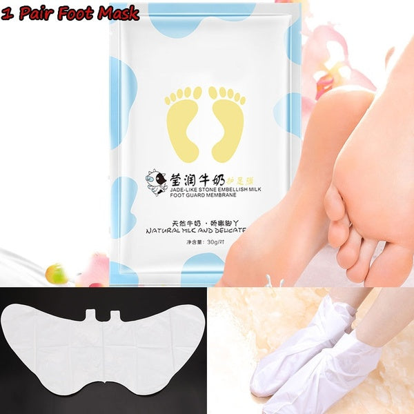 1 Pair Milk Moisturizing Foot Mask Foot Film Exfoliation Removal Mask For Foot Care