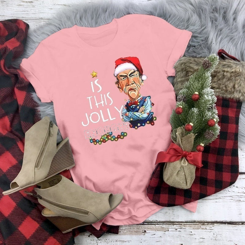 2019 HIGH QUALITY Unisex Fashion Is This Jolly Enough Christmas T-shirt for Men and Women