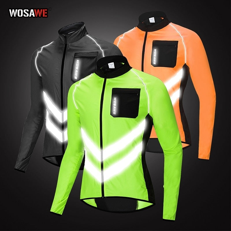 2020 New Men's Cycling Jacket Long Sleeve Mountain Bike Jacket Waterproof Bicycle Coat Windproof Reflective MTB Jacket