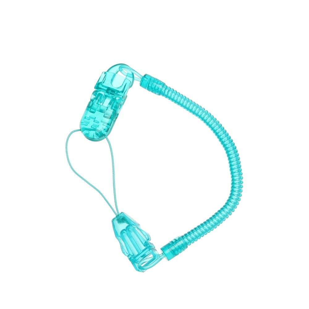 Baby Infant Toddler Dummy Pacifier Spring Soother Nipple Clip Chain Holder Strap Baby Chew Toy for Baby