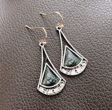 925 Silver Natural Picasso Marble Woman Earrings Bride Gift Jewelry Earrings