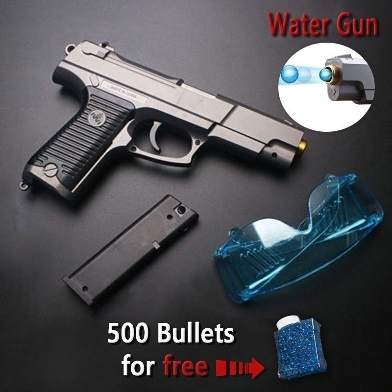 P85MK11 Water Gun Super Realistic Glock Child Battle Toy Gun BB Gun Can Launch Crystal Bomb High Quality Water Gun Simulation Musket Gun Crystal Bullets Childrens