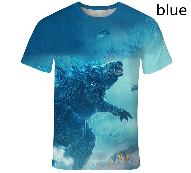 Kids T Shirt Movie Godzilla King of the Monsters 3D Printed Boys Girls Funny T-shirts Harajuku Style T-shirt