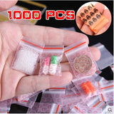 1000/500/200/100Pcs 2.5*3cm Bags Clear 8MIL Small Poly Bag Recloseable BAGS Plastic Baggie