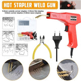A Set of Car Bumper Dashboard Repair Tool Welding Repair Kit Welder Gun Repair Motorcycle Plastic Hot Staplers 50W