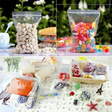 100PCS/SET Durable Use Transparent Jewelry Ziplock Zip Zipped Lock Bag