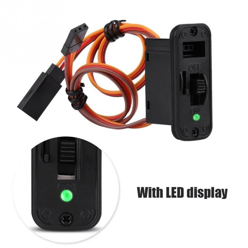 1Pc Heavy Duty LED RC Switch JR RC On Off Connectors Accessory For Receiver