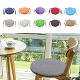 Multicolored 2 Sizes Removable For Garden Patio Kitchen Office Washable Solid Color Seat Pad Round Cushion Chair Cover Home Decoration