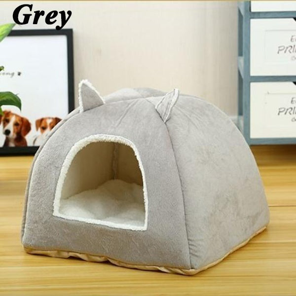 4 Colors Cartoon rabbit ears Pet Cat Dog House Cave Sleeping Bed Mat Pad Soft Warm Nest for Cat Dog Puppy