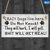 13 Kinds Of Funny Dog Signs Wooden Plaque Pet Friendship Sign Lover Hanging Plaques Gift Home Door Decoration